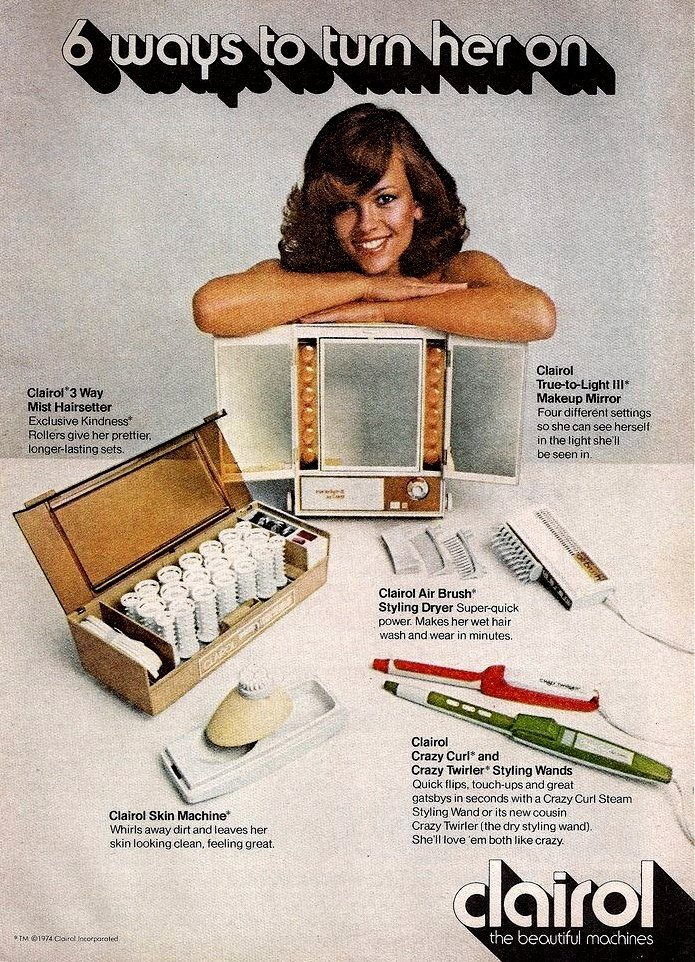 Clairol vintage sexist ad - six ways to turn her on