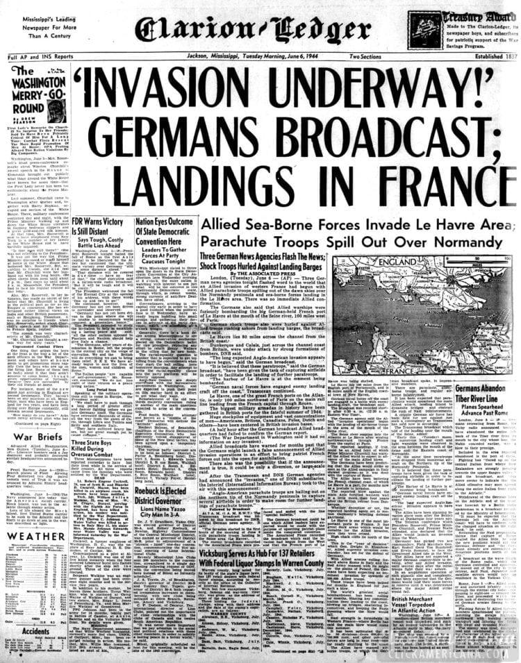 'Invasion Underway!' Germans Broadcast; Landings in France