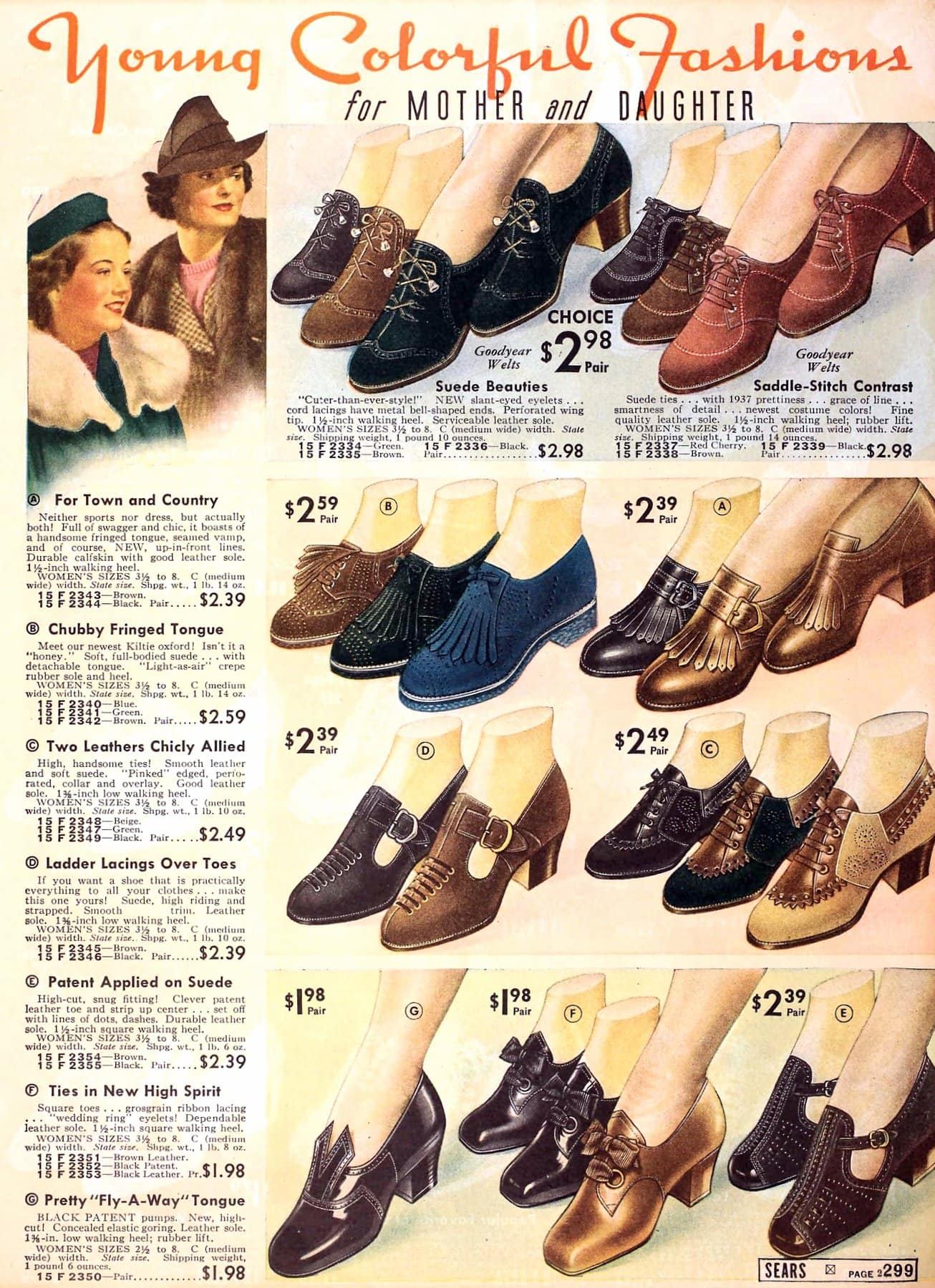 Classic 1930s shoes and heels for women from 1937 (1)