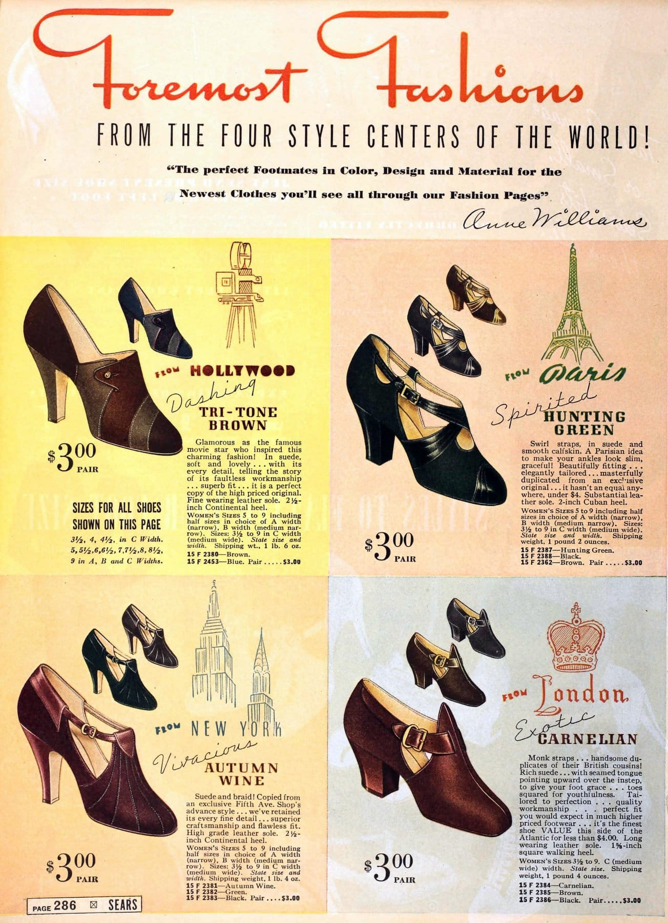 Classic 1930s shoes and heels for women from 1937 (3)
