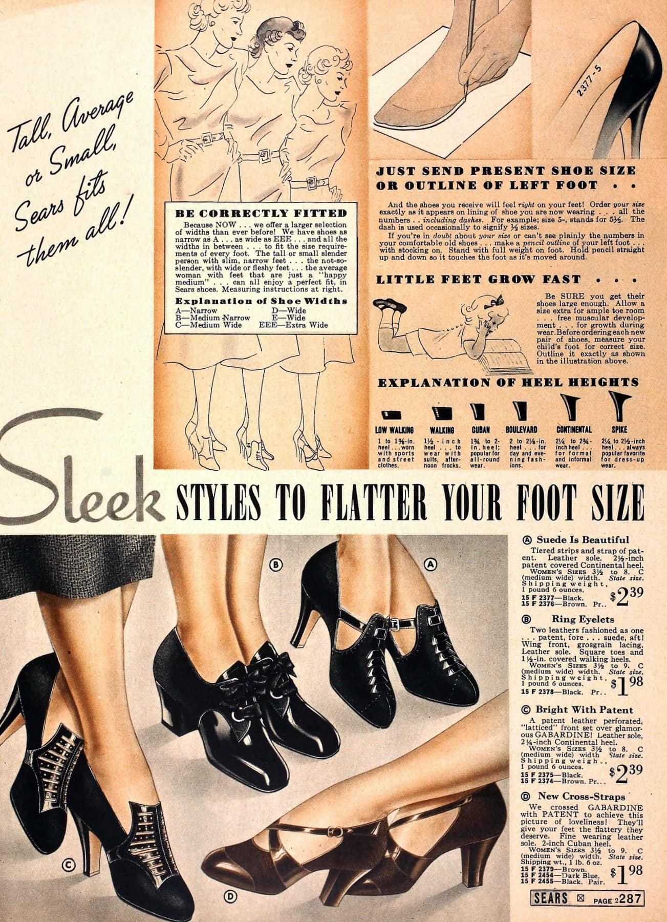 Classic 1930s shoes and heels for women from 1937 (4)