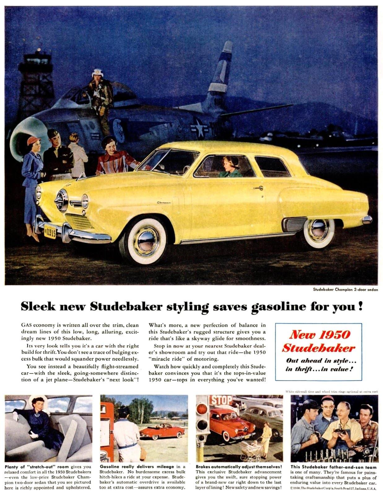 Classic 1950 Studebaker Champion 2-door sedan