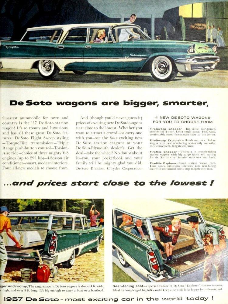 Classic 1957 De Soto station wagons