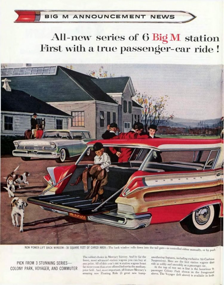 Classic 1957 Mercury station wagons