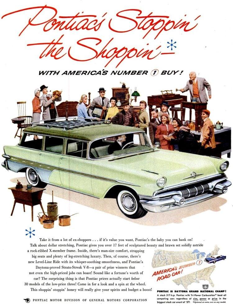 Classic 1957 Pontiac station wagon