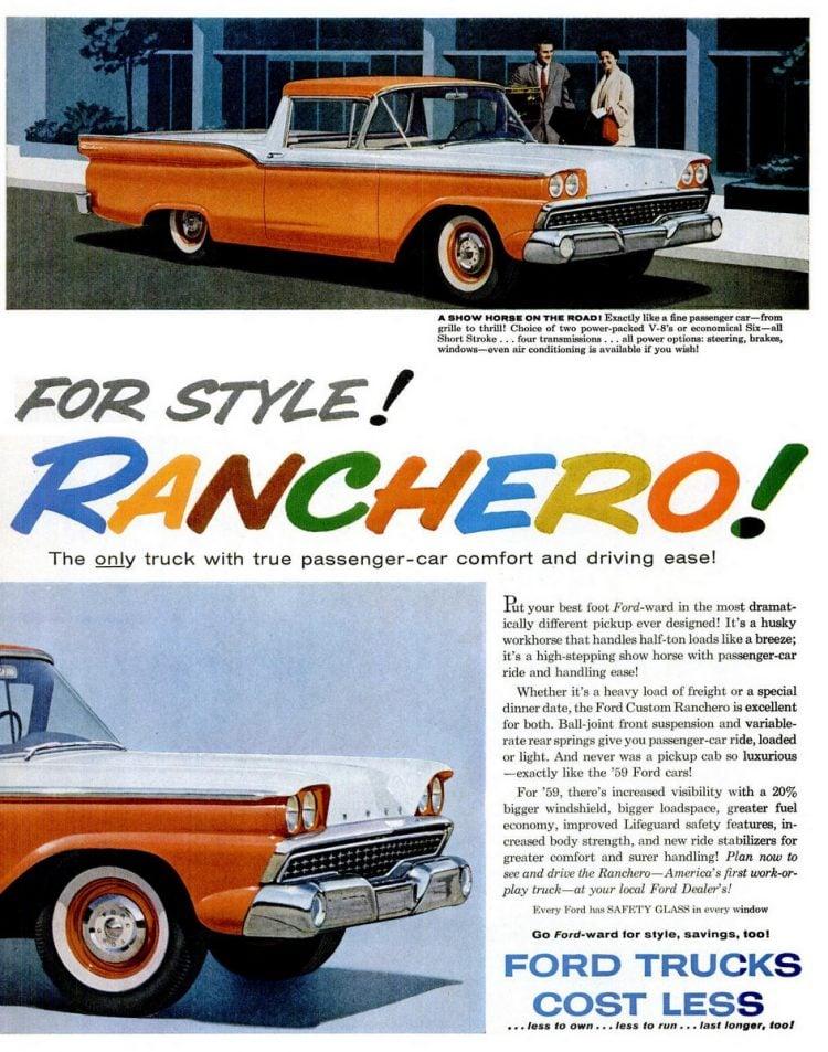 Classic 1959 Ford Ranchero trucks (1)