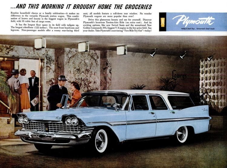 Classic 1959 Plymouth station wagon