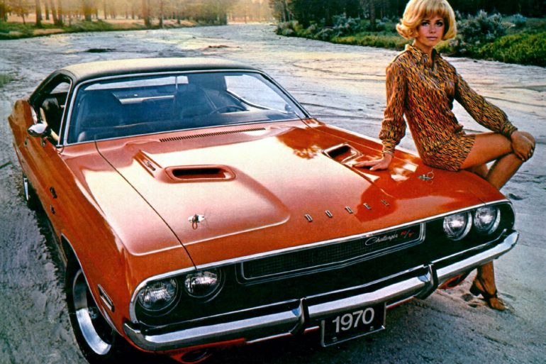 Classic 1970s Dodge Challenger cars
