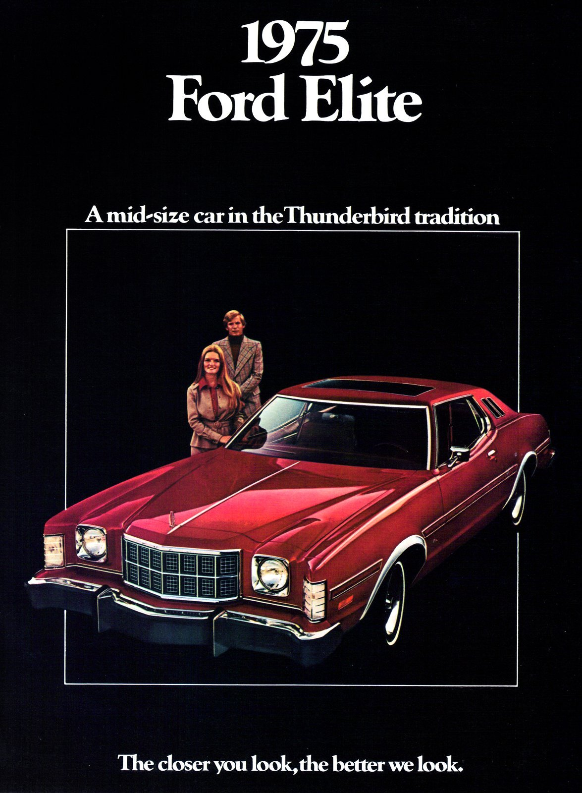 Classic 1975 Ford Elite - red