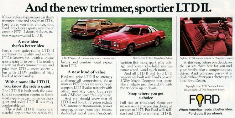 Classic 1977 Ford LTD II cars (2)