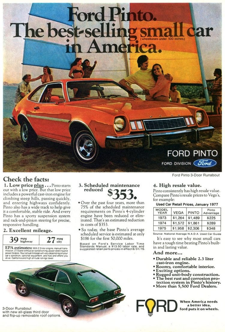 Classic 1977 Ford Pintos
