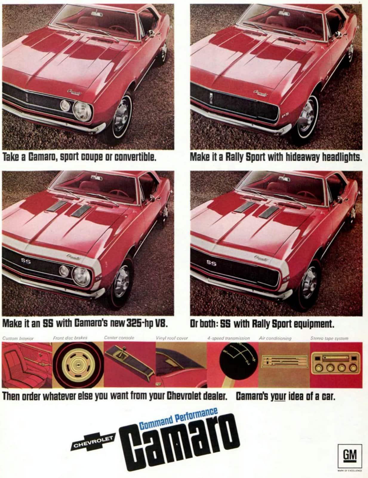 Classic 67 Camaro cars - Choices