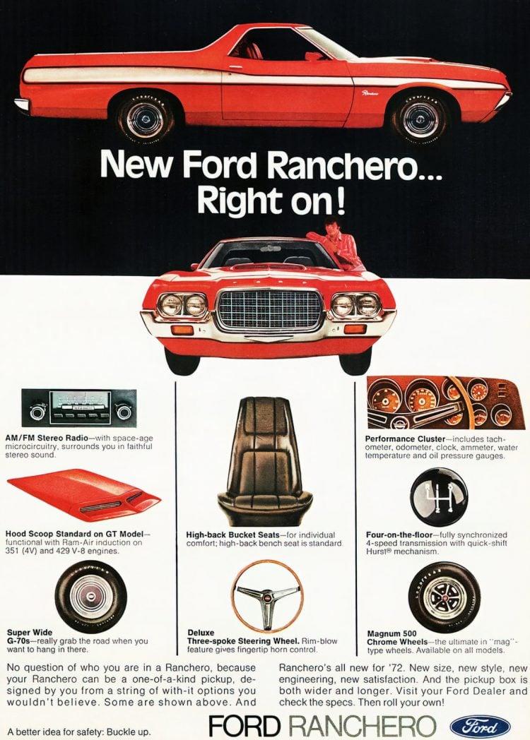 Classic 72 Ford Ranchero trucks
