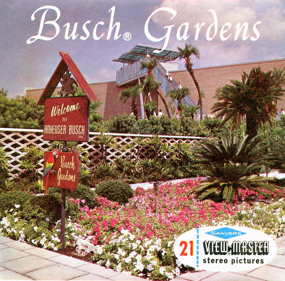 Classic Busch Gardens amusement park View Master toy reel