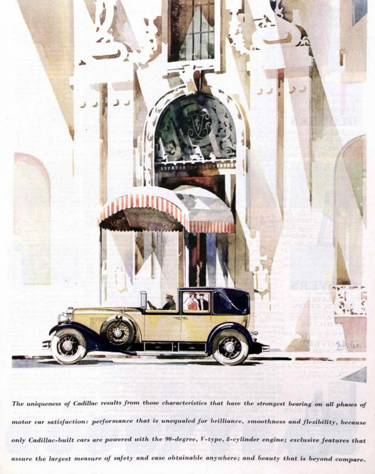 Classic Cadillac car ad from 1929 (2)