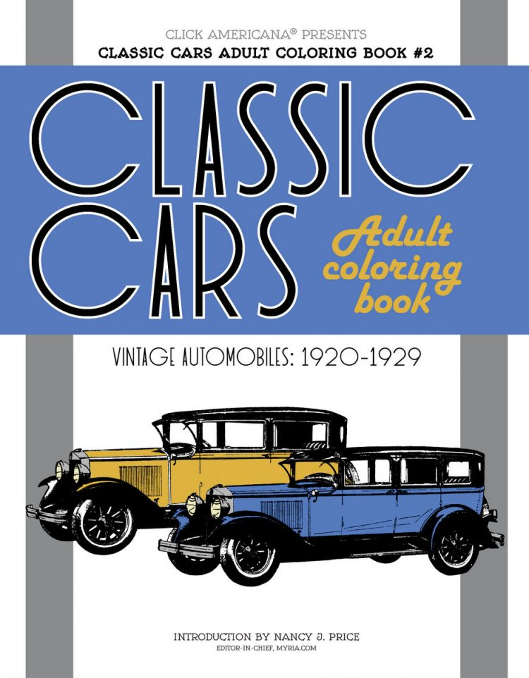 Classic Cars Adult Coloring Book 2
