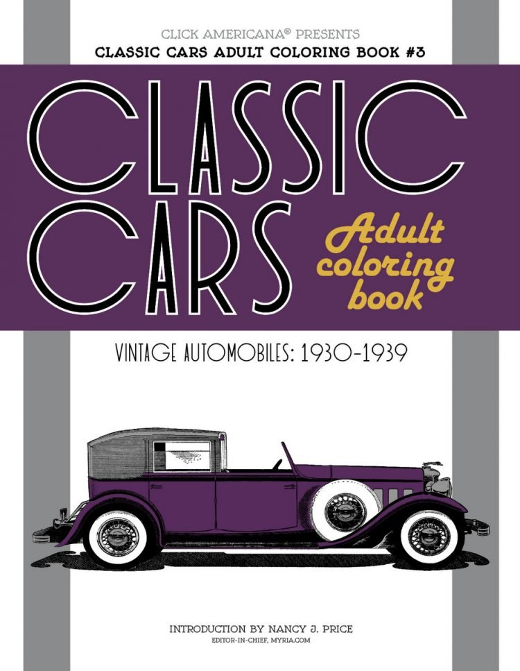 Classic Cars Adult Coloring Book 3