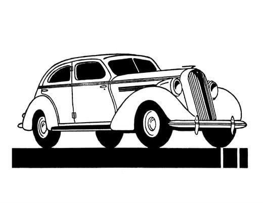 Classic Cars Adult Coloring Book 3 Vintage Automobiles (1930-1939) (3)