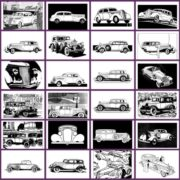 Classic Cars Adult Coloring Book 3 Vintage Automobiles of the thirties (1)