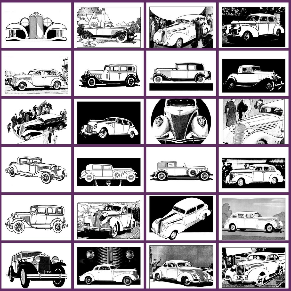 Classic Cars Adult Coloring Book 3 Vintage Automobiles of the thirties (2)