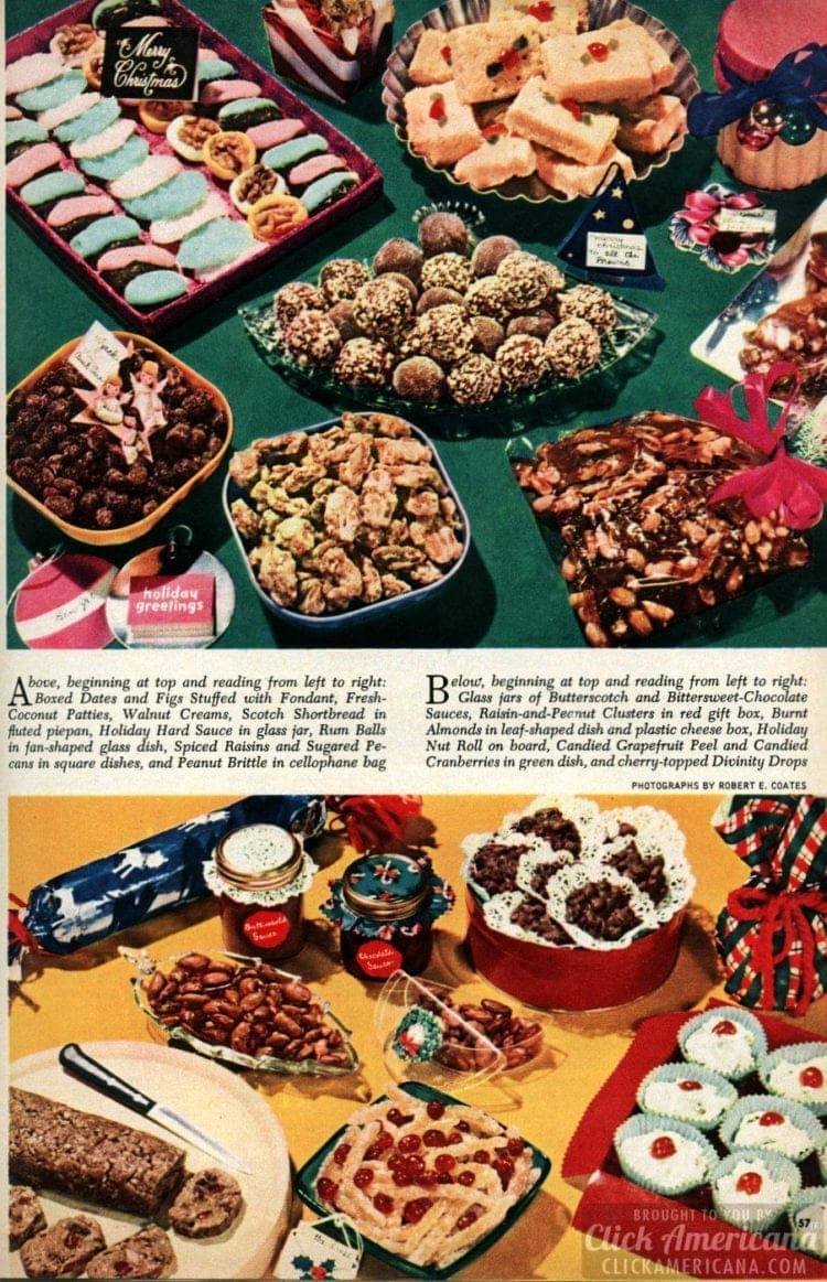 A collection of classic Christmas cookies & treats (1950)
