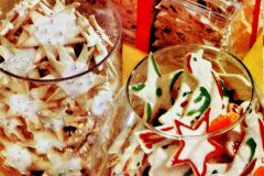 Classic Christmas cookie recipes from the 50s Sugar cookie snowflakes, paintbrush cookies, frosty fruit bars