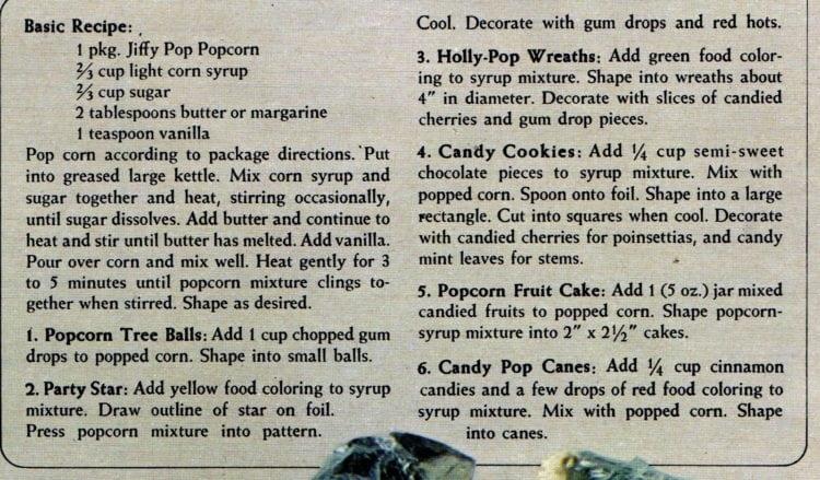 Classic Christmas popcorn balls recipe