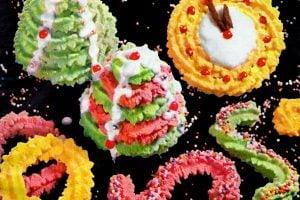 Classic Christmas spritz cookie designs & recipes (1961)