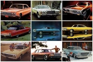 Classic Chrysler Newport cars from the 60s and 70s