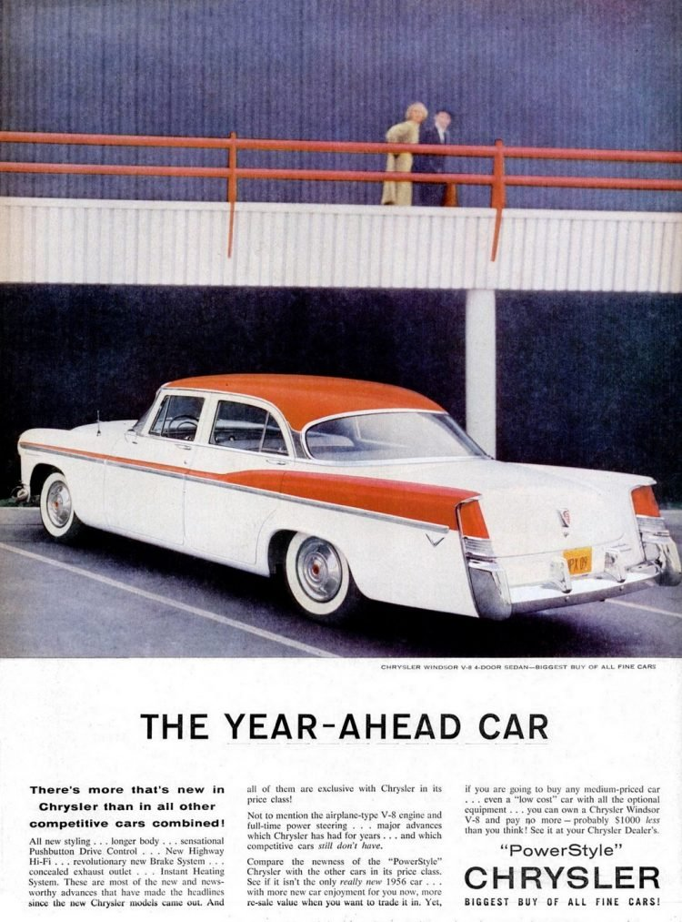 Classic Chrysler Power Style cars for 1956