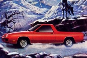 Classic Dodge Rampage pickup trucks that were made from 1982-1984