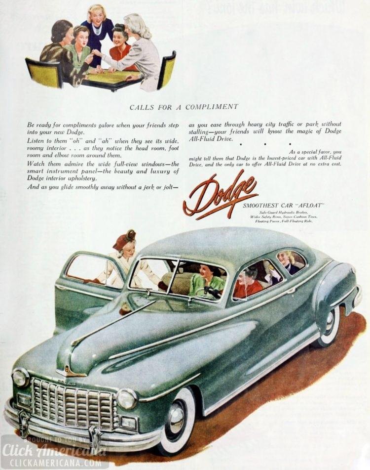 The 48 Dodge classic cars: Calls for a compliment