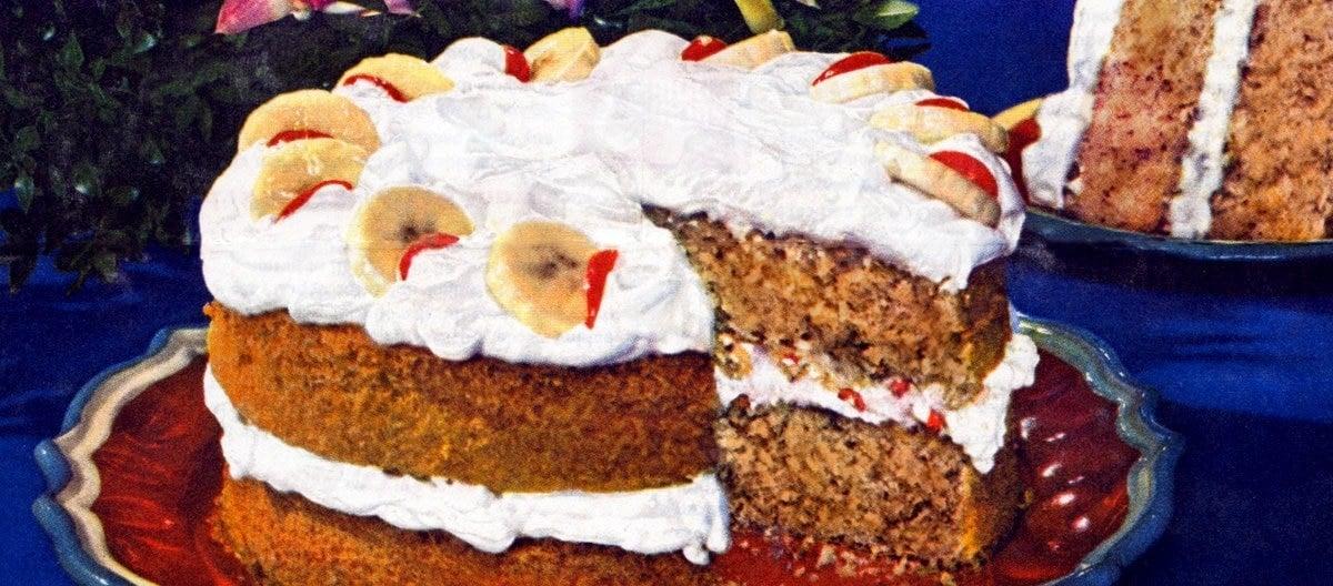 Classic Fiesta Banana Cake recipe (1949)