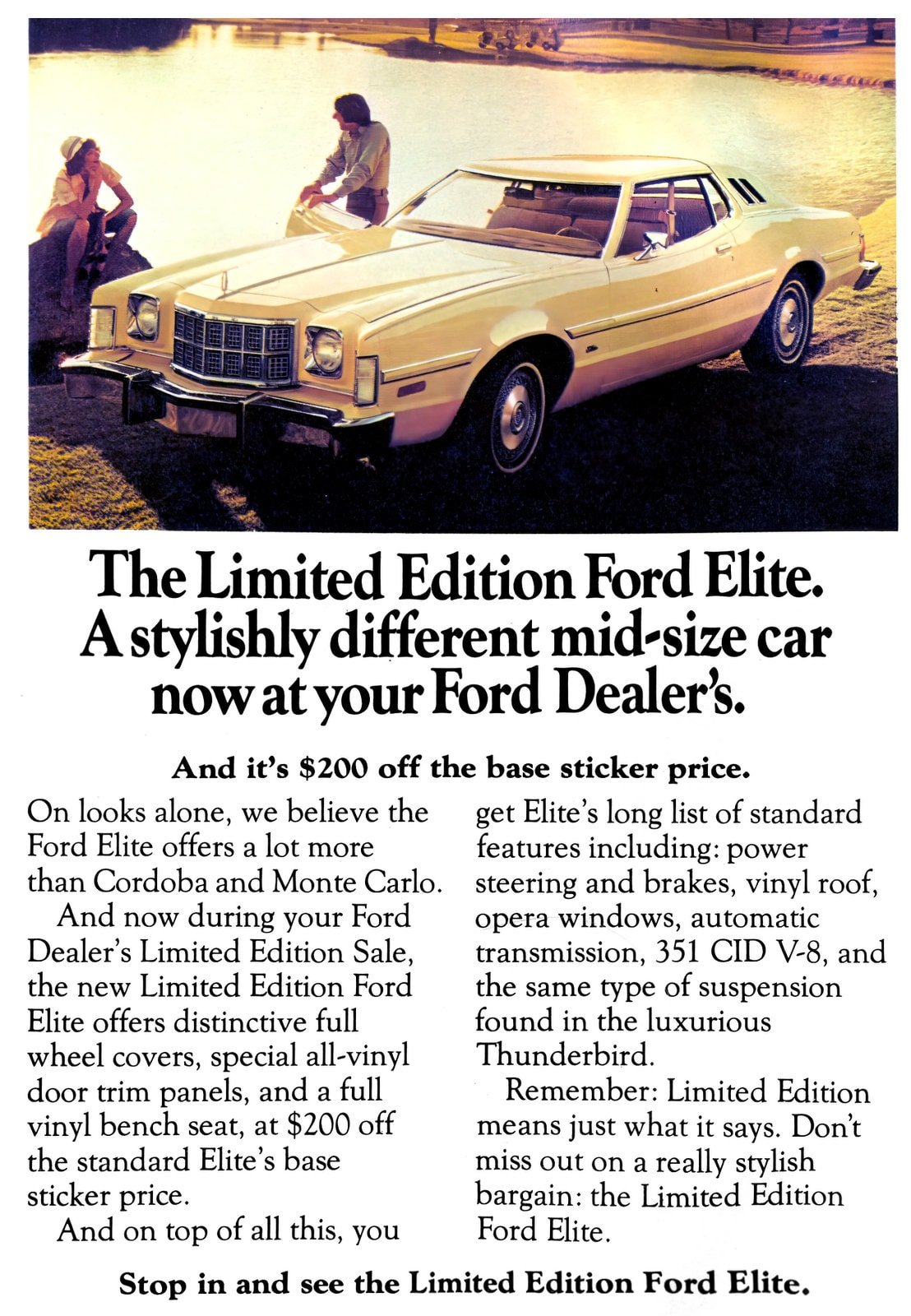 Classic Limited Edition Ford Elite (1970s)