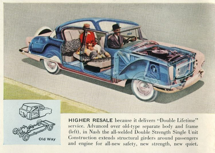 Classic Nash Ambassador cars - Vintage ads from August 1955 (1)