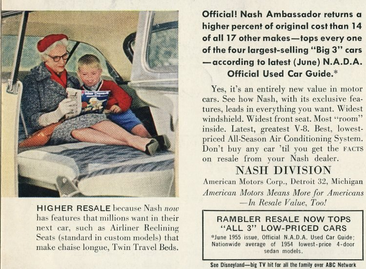 Classic Nash Ambassador cars - Vintage ads from August 1955 (2)