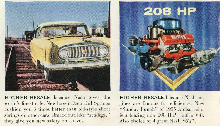 Classic Nash Ambassador cars - Vintage ads from August 1955 (4)