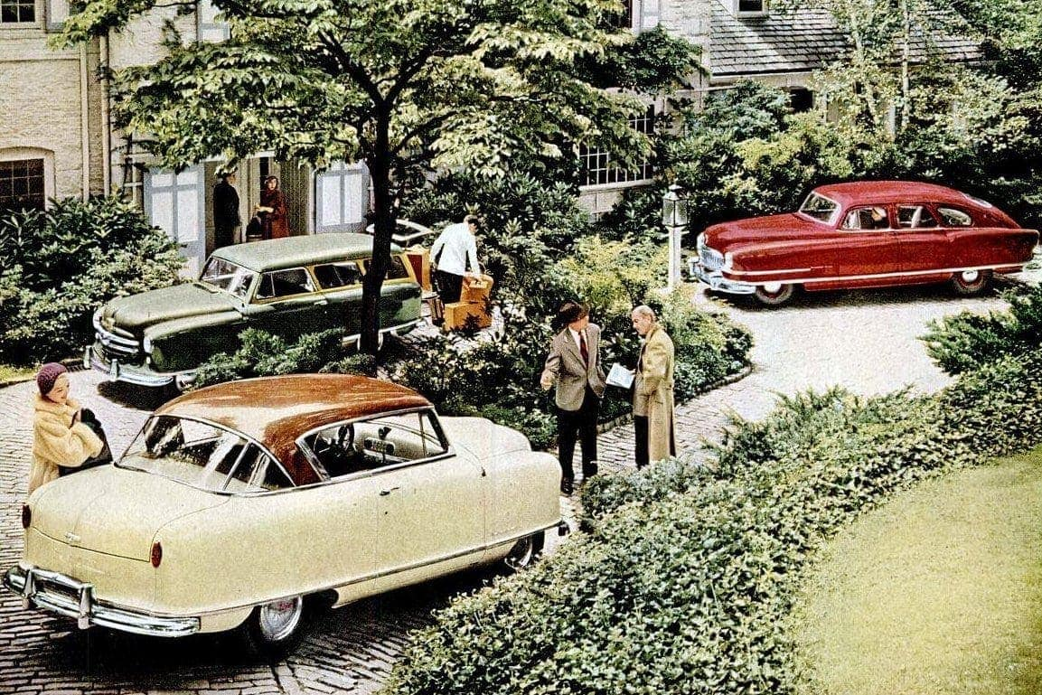 Classic Nash cars from the 1950s Airflyte, Ambassador, Metropolitan more
