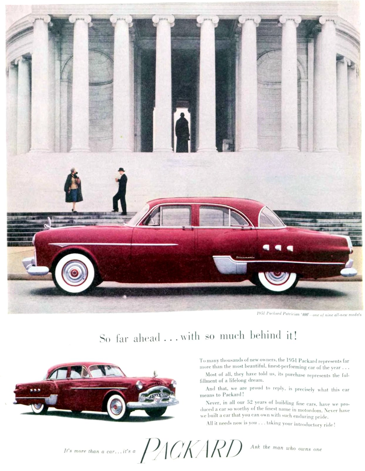 Classic Packard Patrician 400 car (March 1951)