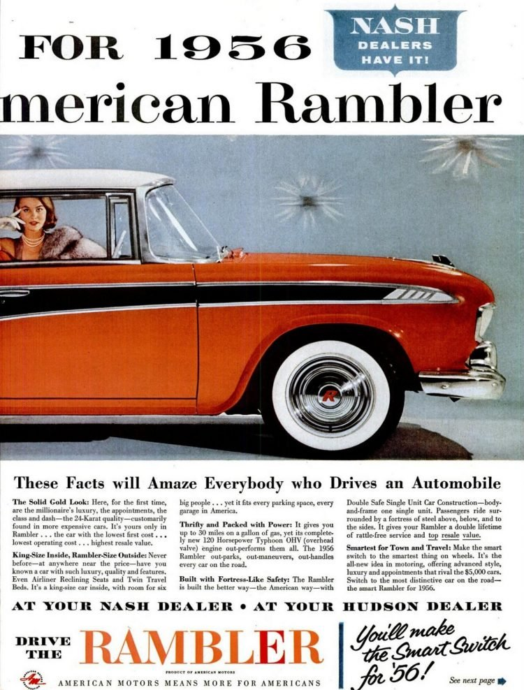 Classic Rambler cars from 1956