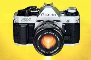 Classic SLR cameras The Canon AE-1 Program from 1982 & FD lenses
