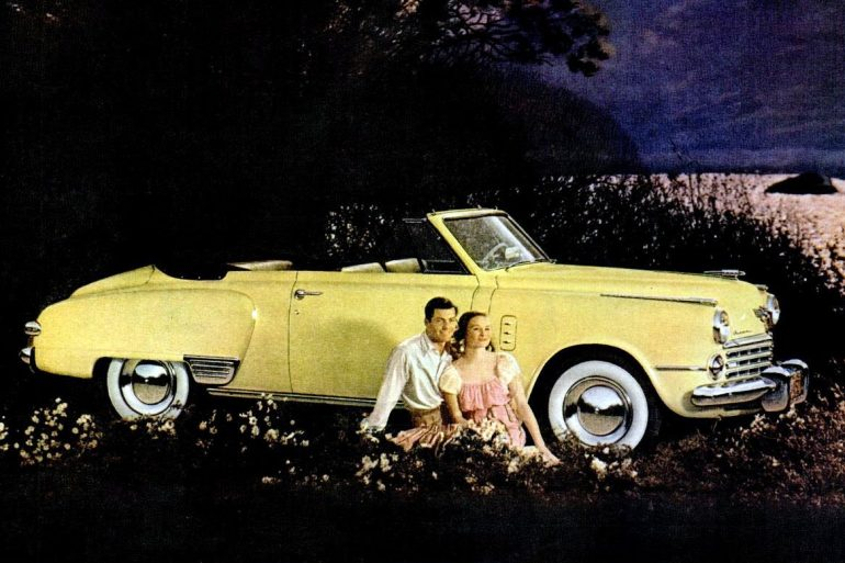 Classic Studebaker cars from the '40s