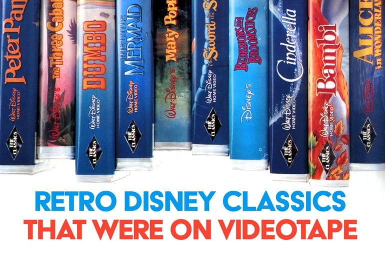 Classic Walt Disney Home Video VHS movies and short collections
