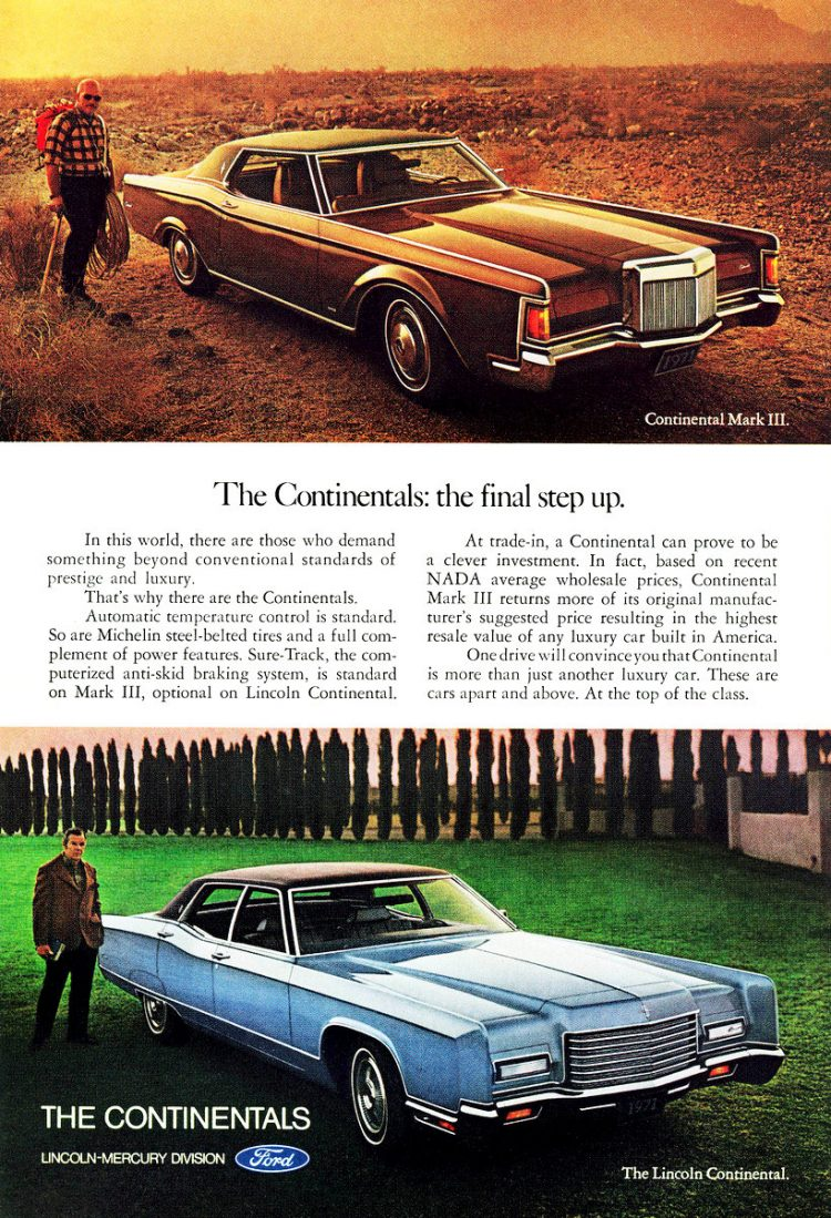 Classic cars - 1971 Lincoln Continental - 71 Continental Mark III