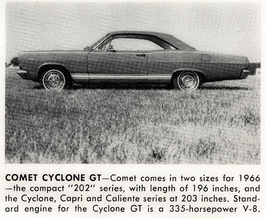 Classic cars -- Comet Cyclone GT (1965)