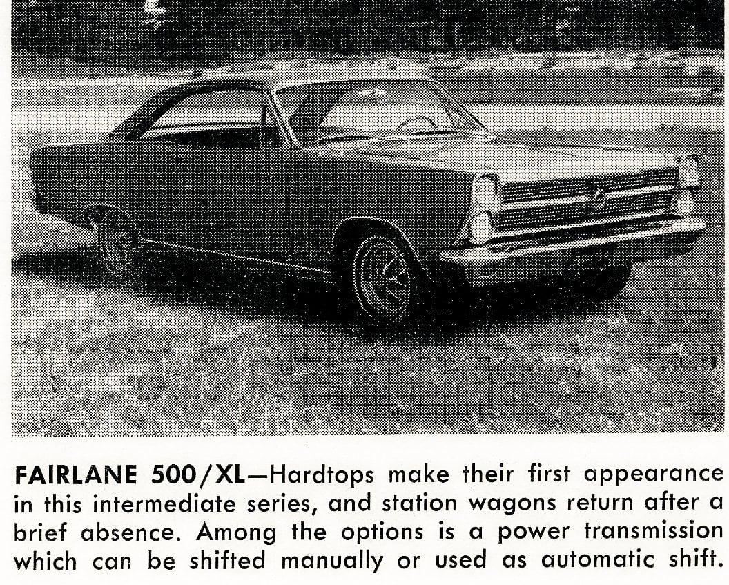Classic cars -- Fairlane 500 XL (1965)