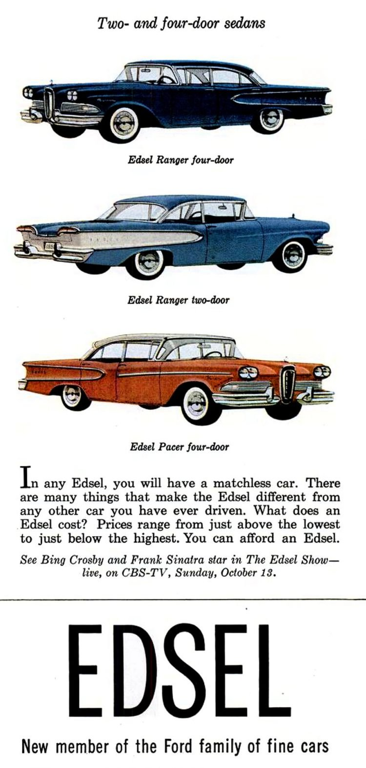 Classic cars - Ford Edsels for 1958