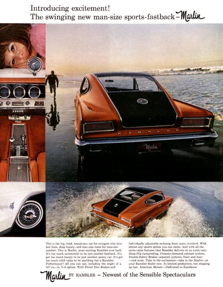 Classic cars - Marlin Rambler - AMC - 1965