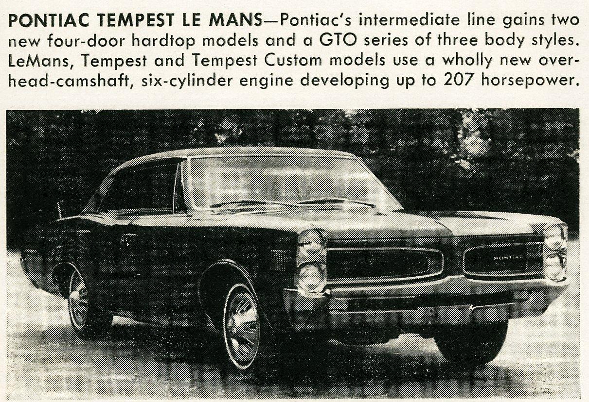 Classic cars -- Pontiac Tempest Le Mans (1965)