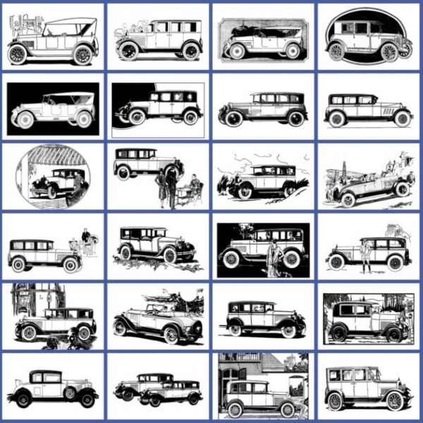 Classic cars from the 1920s coloring book (1)